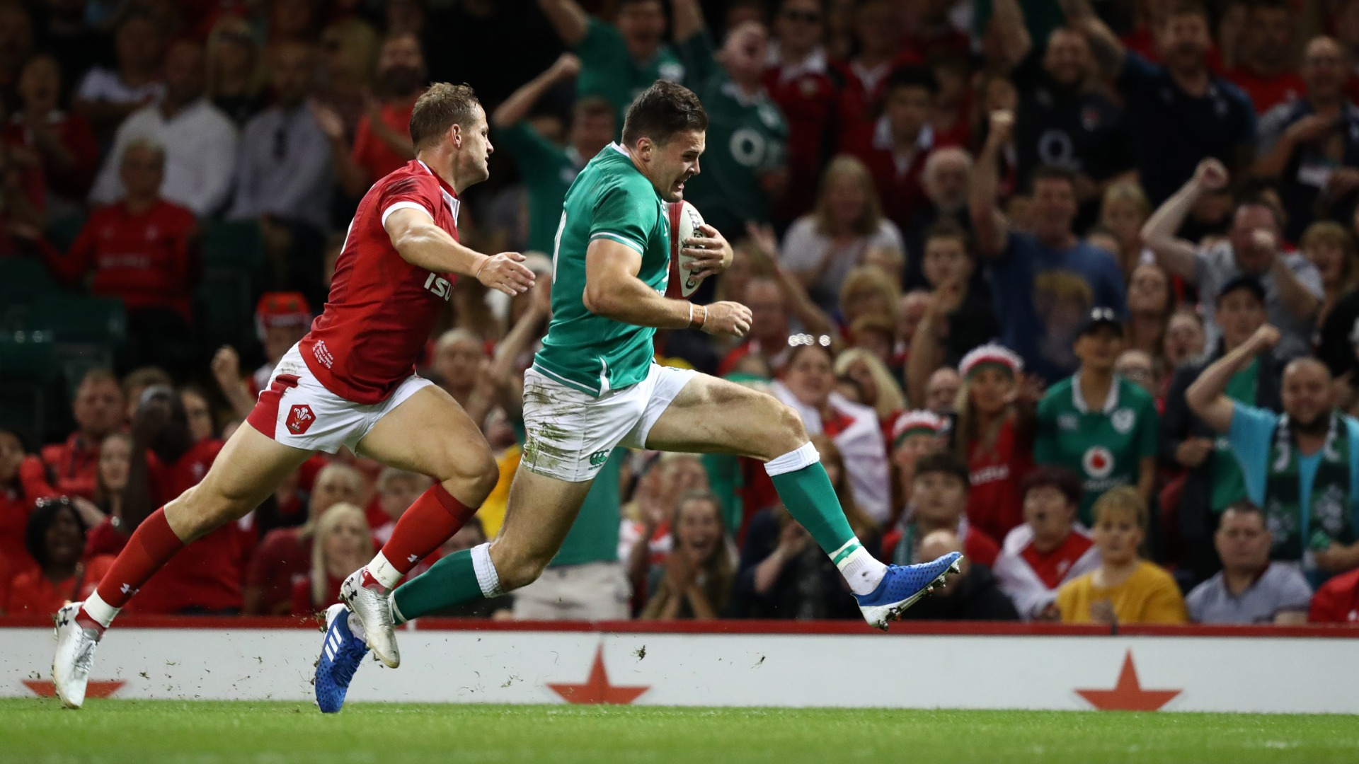 Wales 17-22 Ireland: Jacob Stockdale at the double in